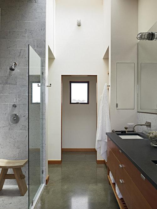 Polished concrete floors bathroom design ideas for Polished concrete floor bathroom