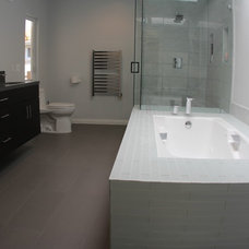 Modern Bathroom by Dave Powers Construction