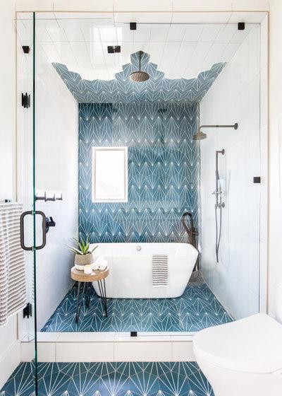 コンテンポラリー 浴室 by Andrea West Design