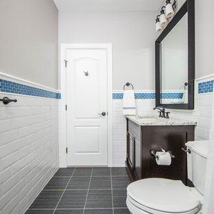 Coordinating Bathroom Remodels for Two Boys