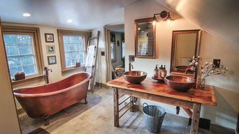 Copper claw-foot tub, and copper fixtures
