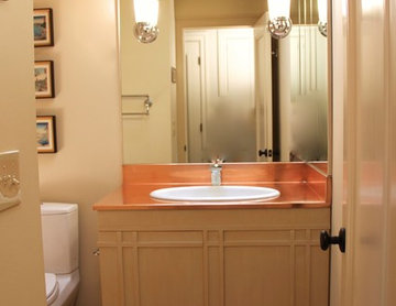 Copper top bathroom