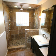 Traditional Bathroom by Markim Construction, LLC