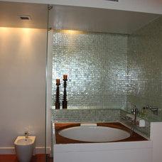 Modern Bathroom by CM Glass