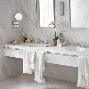Corian® Glacier White with Corian® Purity 7220 Washbasin