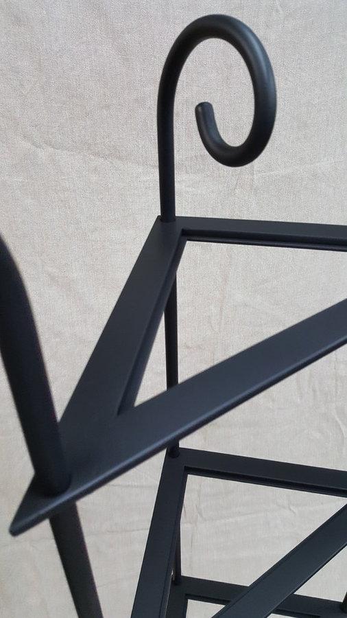 Corner Shelf / Metal and Glass