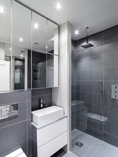 Gray bathroom tiles home design ideas pictures remodel and decor Bathroom design ideas gray