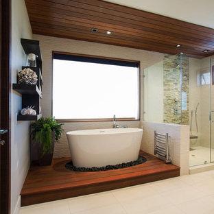 Idée De Décoration Pour Une Salle De Bain Principale Minimaliste De Taille  Moyenne Avec Un Placard