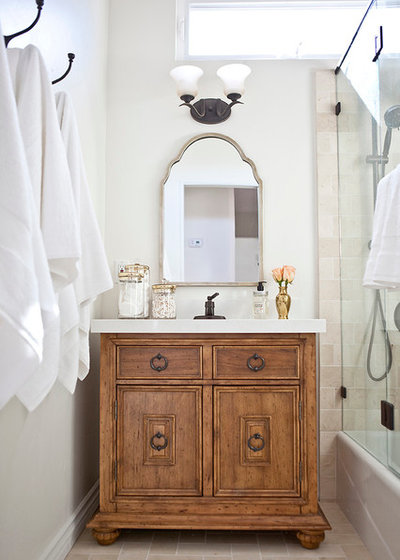 Mediterranean Bathroom by Bungalow 56 Interiors