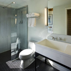 Modern Bathroom Corrugated Metal Bathroom
