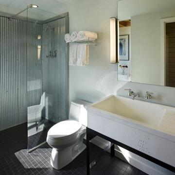 Corrugated Metal Bathroom