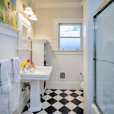 Craftsman Bathroom by Dennis Mayer, Photographer