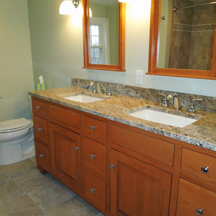 Renovation From Singing the Blues to a Spa-worthy Bathroom