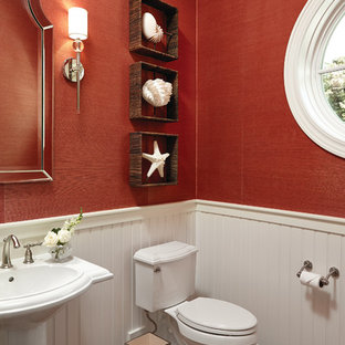 Inspiration for a beach style bathroom remodel in Grand Rapids