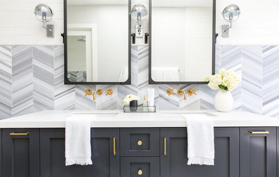 Room of the Day: Master Bath Gets an Elegant Industrial Style