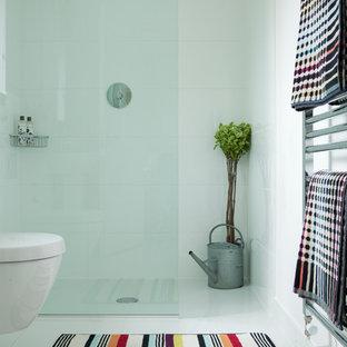 Idéer för stora lantliga badrum