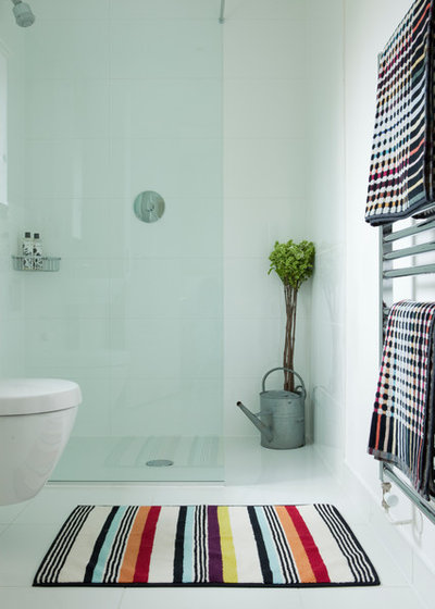 Farmhouse Bathroom by annie stevens designs ltd