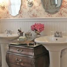 Traditional Bathroom Cottage Bathroom Remodel
