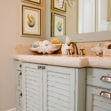 beach style bathroom by Palmer Todd