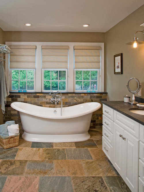 Bathroom Slate Floor Ideas Pictures Remodel And Decor