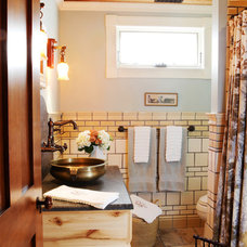 Eclectic Bathroom by Karr Bick Kitchen and Bath