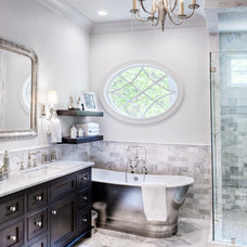 Eclectic Bathroom by Gabriel Builders Inc.