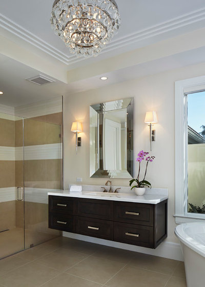 Transitional Bathroom by Turtle Beach Construction & Remodeling