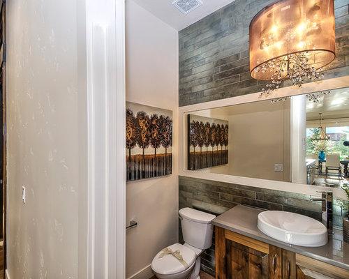 Rustic boise bathroom design ideas remodels photos for Bath remodel boise