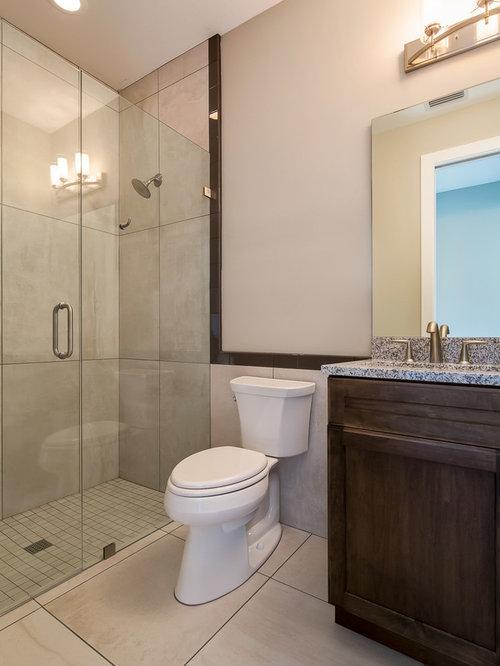 Beach Style Brown Cabinet Finish Bathroom Design Ideas