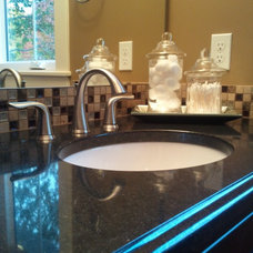 Contemporary Vanity Tops And Side Splashes by DeGraaf Interiors