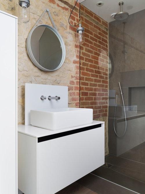 Badezimmer Sand Beige - Ideen & Beispiele für die Badgestaltung ...