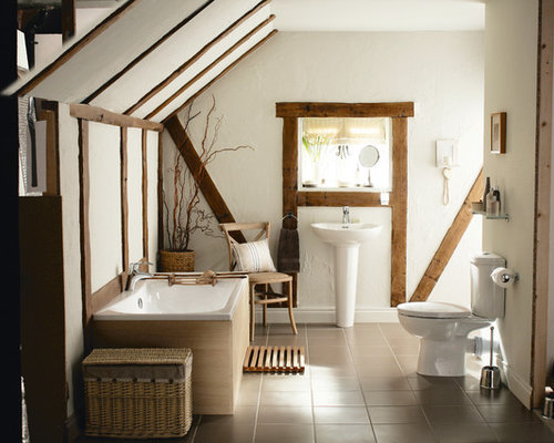 White Rustic Bathroom modern rustic bathroom | houzz