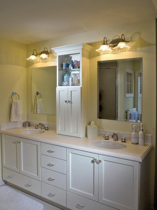 Double vanity towers houzz for Bathroom vanity storage tower