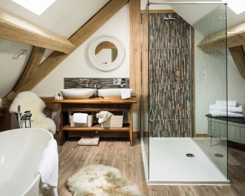 Inspiration For A Large Rural Bathroom In Other With Freestanding Cabinets Bath