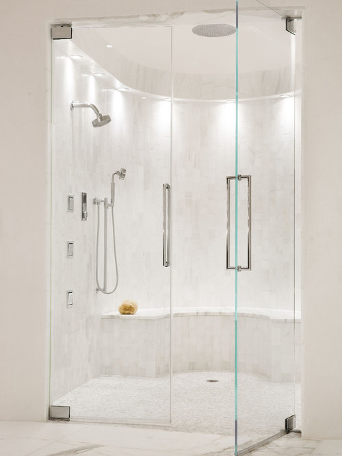 1 122 Zero Entry Shower Bathroom With An Alcove Shower