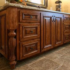 Rustic Bathroom by Walker Woodworking