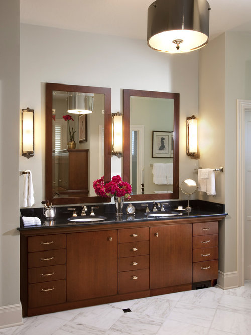 Oil rubbed bronze light sconces houzz for Traditional bathroom vanity lights