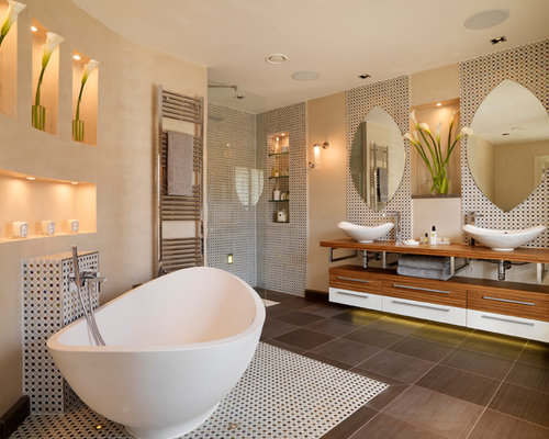 Luxury bathroom houzz for Salle de bain moderne houzz