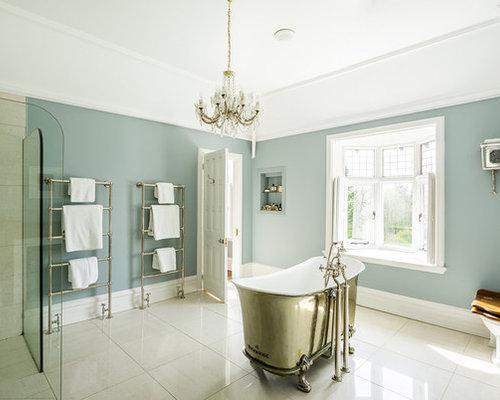 Bathroom ideas photos with beige tiles and a two piece for 2 piece bathroom ideas