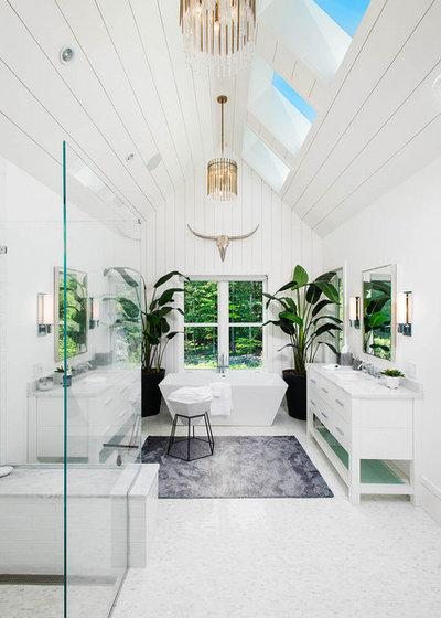 Country Bathroom by Fletcher Development LLC