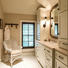 Farmhouse Bathroom by By Design Interiors