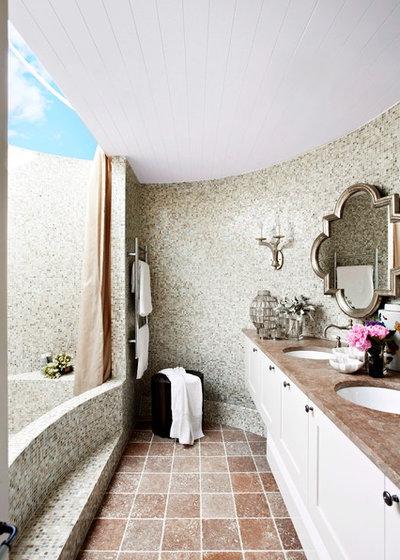 Farmhouse Bathroom by Danielle Trippett Interior Design