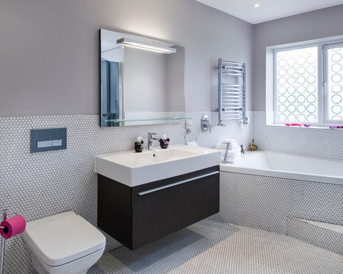 half tiled bathroom half tiled wall houzz 13057
