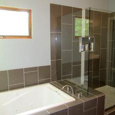 Modern Bathroom by Bork Design, Inc.