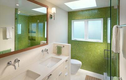 10 Bathrooms With Big, Bold Color
