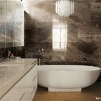 Benz's Project in West Vancouver - Modern - Bathroom ...
