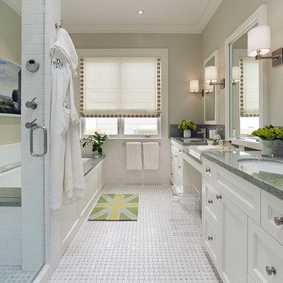 Trendy mosaic tile bathroom photo in San Francisco