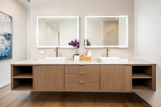 Modern Bathroom by Beyond Interior Design, LLC