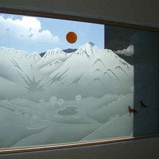Eclectic Bathroom by Sans Soucie Art Glass