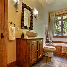 Rustic Bathroom by Melyssa Robert Designer